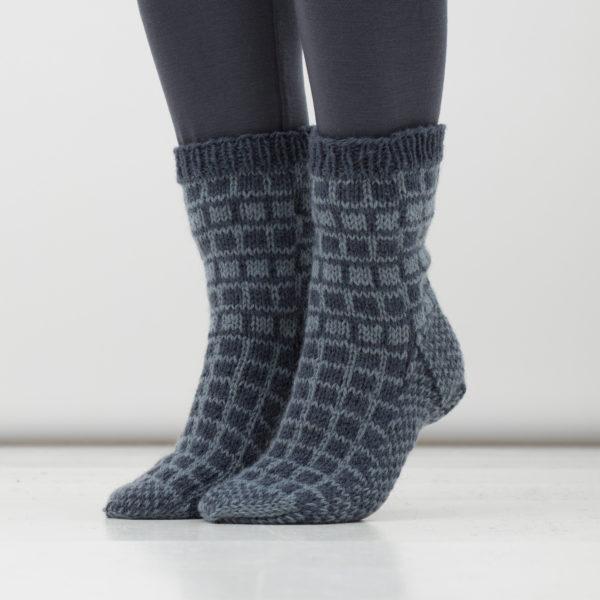 Gla sokkka blå