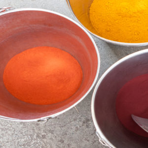 Fargeprøver, garn