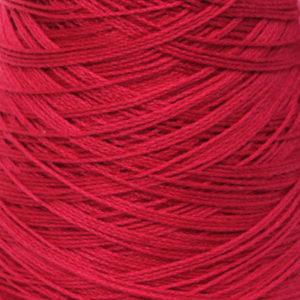 Perle Bomullsgarn, mørk rød