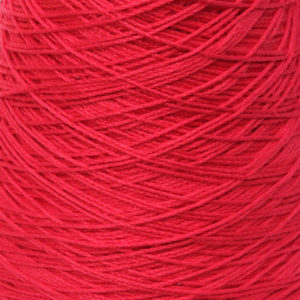 Perle Bomullsgarn, ren rød