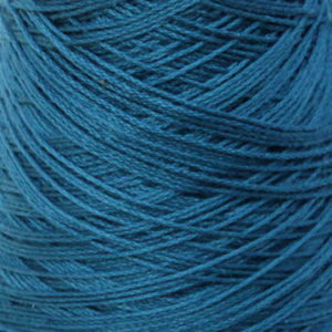 Perle Bomullsgarn, mørk turkisblå