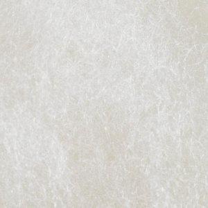 Kardet ull, bleket hvit
