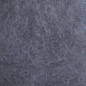 Kardet ull, stålgrå