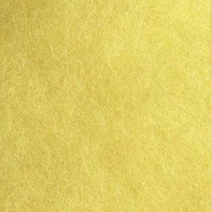 Kardet ull, lys gul