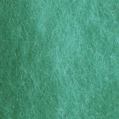 Kardet ull, grønn turkis