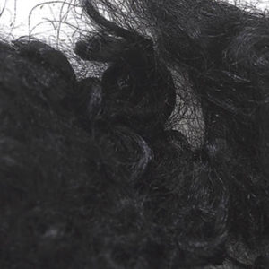 Farget Pelsull, svart