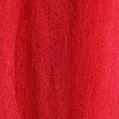 Merinoull Tops, klar ren rød