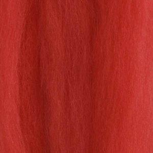 Merinoull Tops, dempet ren rød