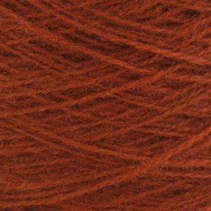 Ask - Hifa 2 Ullgarn, rødbrun - spolt