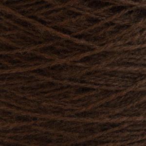 Ask - Hifa 2 Ullgarn,  mørk brun - spolt