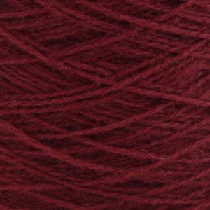 Ask - Hifa 2 Ullgarn, mørk burgunder - spolt