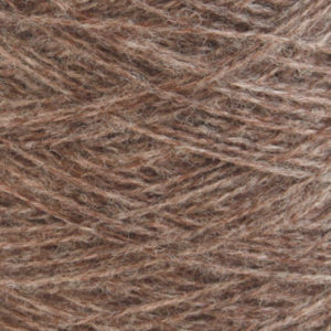 Ask - Hifa 2 Ullgarn,  melert brun - spolt