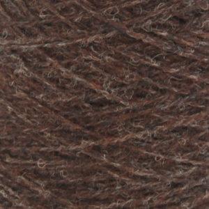 Ask - Hifa 2 Ullgarn,  melert mørk brun - spolt