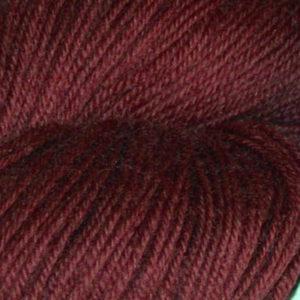 Hjerte - Superwash 12/4, burgunderrød
