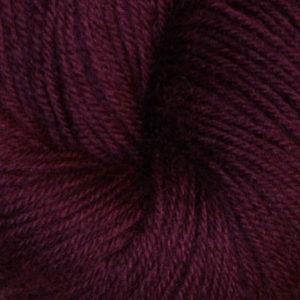 Hjerte - Superwash 12/4, mørk rødlilla