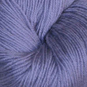Hjerte - Superwash 12/4, lys blålilla