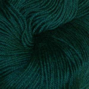 Hjerte - Superwash 12/4, mørk blålig grønn