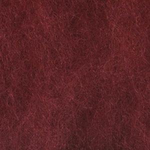 Kardet ull, vinrød