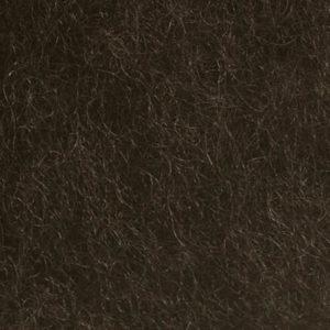 Kardet ull, mørk brun