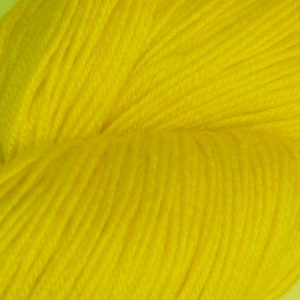 Hjerte - Superwash 12/4, brunlig lys gul