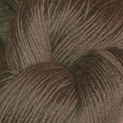 Hjerte - Superwash 12/4, lys sjokoladebrun