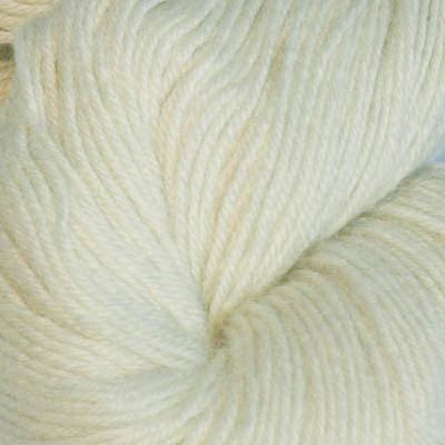 Hjerte - Superwash 12/4, ubleket hvit