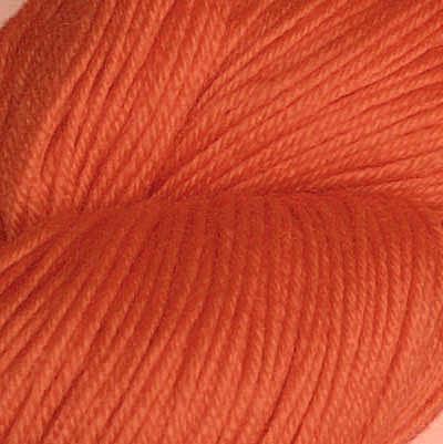 Hjerte - Superwash 12/4, lys oransjerød