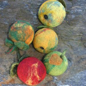 Epler - Startpakke til nålefilting (Pelsull)