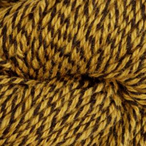 Fjell - Sokkegarn 3, oker/svart molinert
