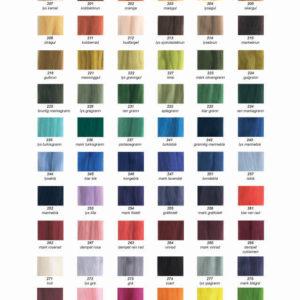 Fargekart Merinoull tops