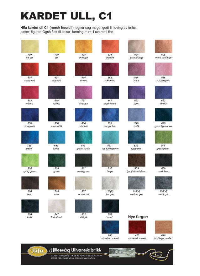 Fargekart Norsk høstull, C1