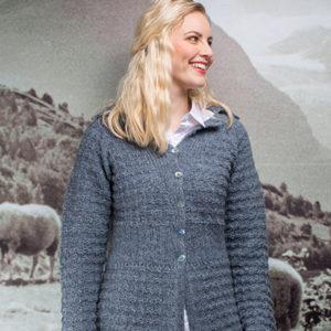 Selma jakke (Norsk Pelsullgarn) - oppskrift